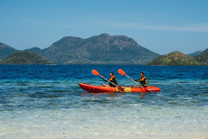Kayaking in Club Paradise Coron