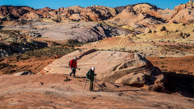 Arch rock formations at the Valley of Fire, Nevada's first and oldest State Park, may be even more appealing to visitors during the coronavirus era.