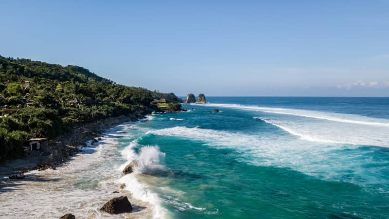 Nihi Sumba is a private island resort in Indonesia.