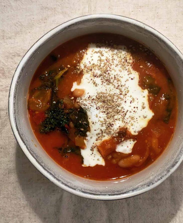 Harissa and Bean Stew