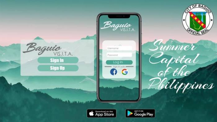 The Baguio Visita app is available on App Store and Google Play.