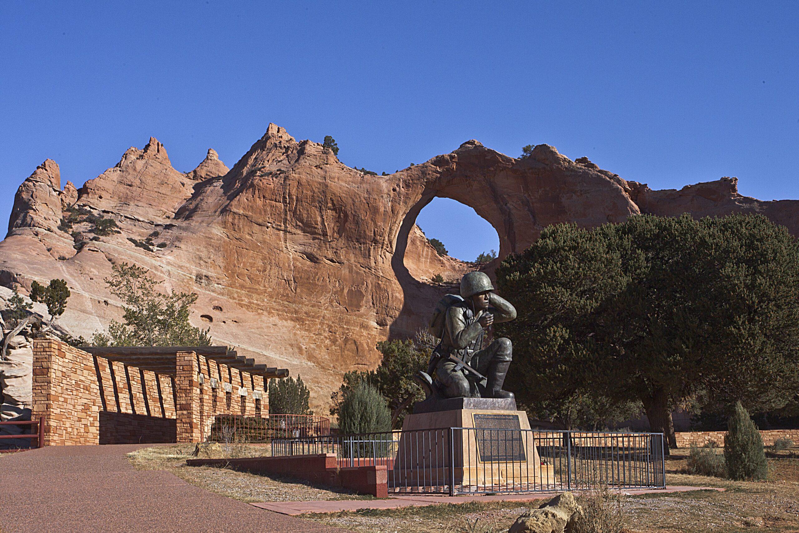 Navajo Code Talker monument in Window Rock